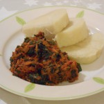 Yam and vegetable