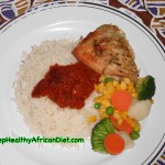Rice, Stew, Vegetable and Skinless Chicken