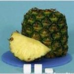 Sugar in a slice of pineapple