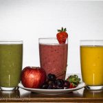 Smoothie in 3 flavours