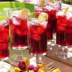 Hibiscus tea on ice