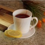 Lemon flavoured hibiscus tea